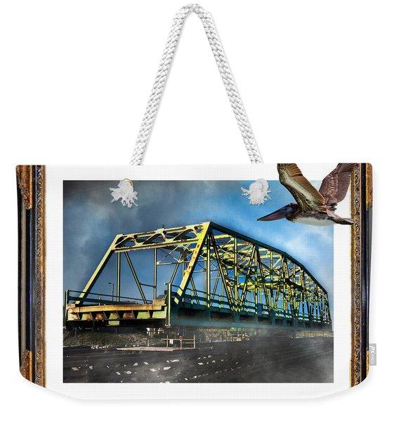 Swing Bridge Weekender Tote Bag