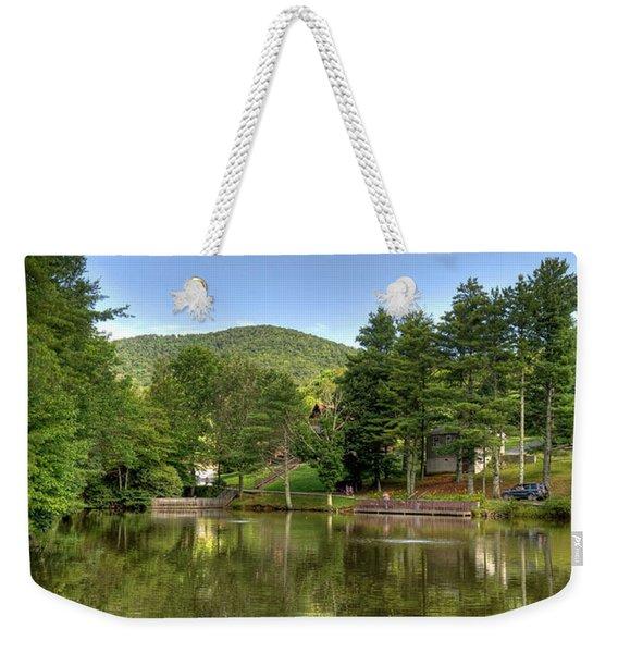 Swiss Mountain Lake Weekender Tote Bag