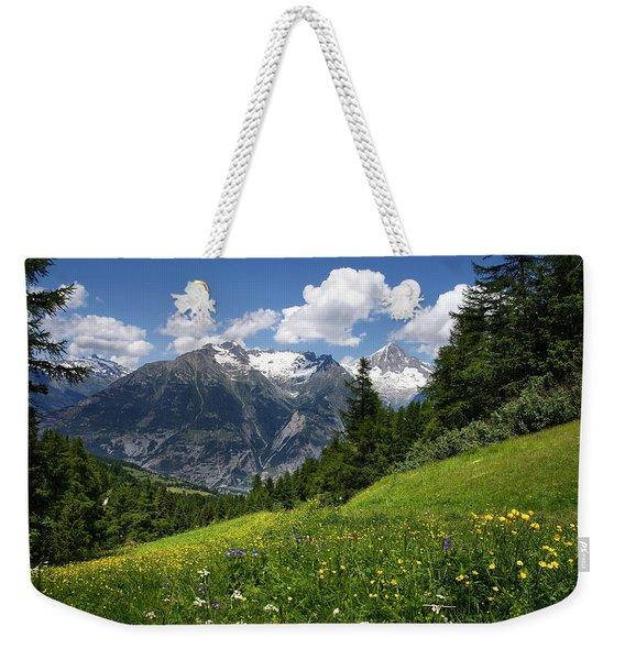 Switzerland Bietschhorn Weekender Tote Bag