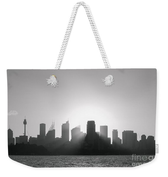 Sydney's Evening B/w Weekender Tote Bag