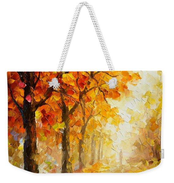 Symbols Of Autumn - Palette Knife Oil Painting On Canvas By Leonid Afremov Weekender Tote Bag
