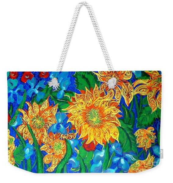 Symphony Of Sunflowers Weekender Tote Bag