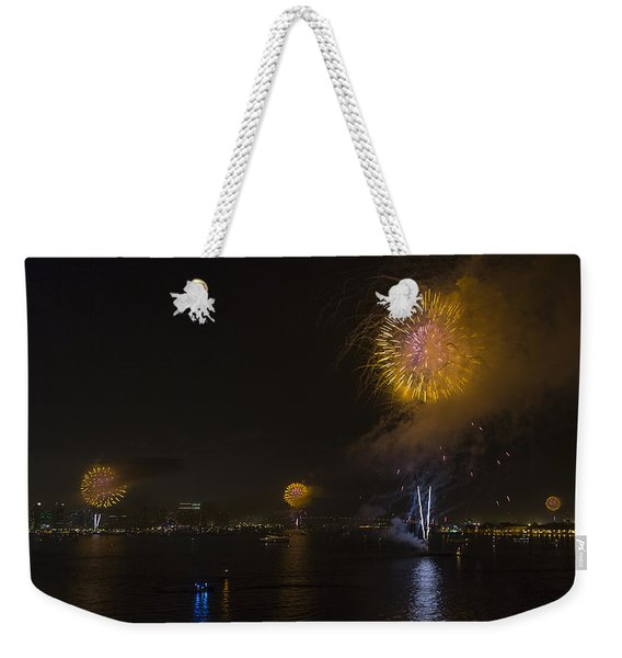 Synchorized Shots Weekender Tote Bag