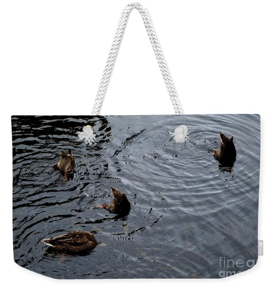 Weekender Tote Bag featuring the photograph Synchronised Swimming Team by Scott Lyons