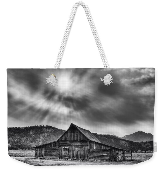 T.a. Moulton Barn - Black And White Weekender Tote Bag