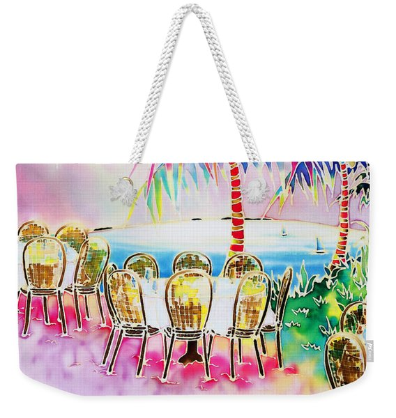 Tables On The Beach Weekender Tote Bag
