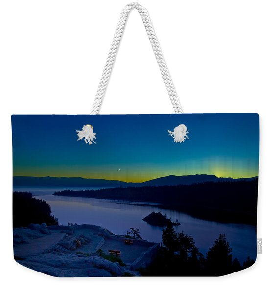 Weekender Tote Bag featuring the photograph Tahoe Sunrise by Jim Thompson