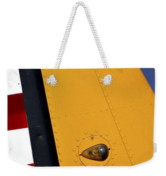 Tail Detail Of Vultee Bt-13 Valiant Weekender Tote Bag