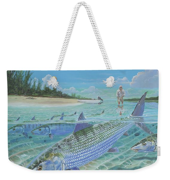 Tailing Bonefish In003 Weekender Tote Bag