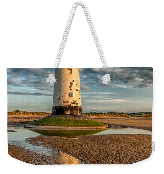 Talacre Lighthouse Sunset Weekender Tote Bag