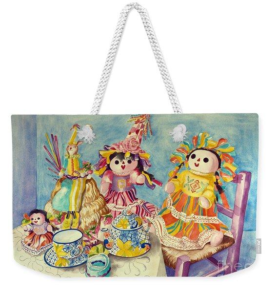 Talavera Tea With Friends Weekender Tote Bag