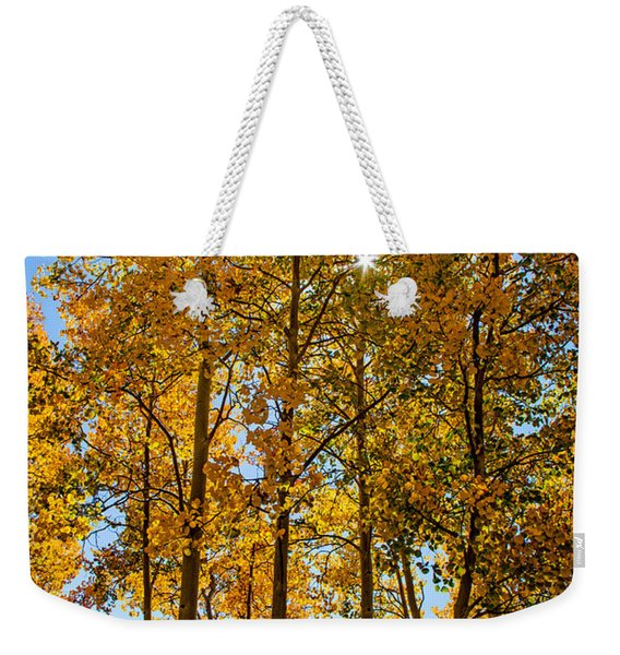 Tall Aspen With Sunstar Weekender Tote Bag