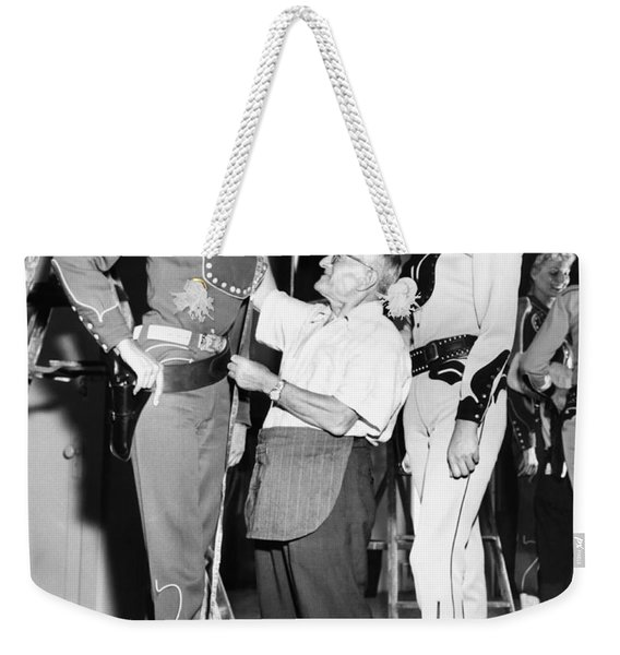 Tall Cowgirls Get Fitted Weekender Tote Bag
