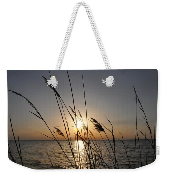 Tall Grass Sunset Weekender Tote Bag