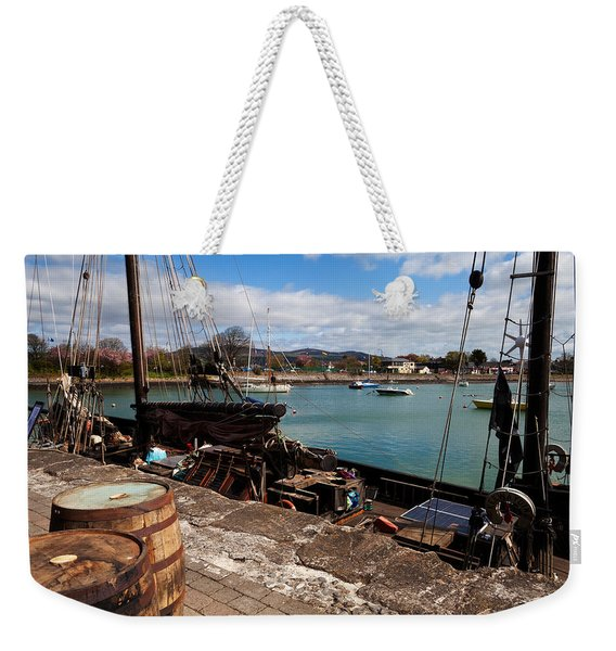 Tall Ship Keeywaydin , Dungarvan Weekender Tote Bag