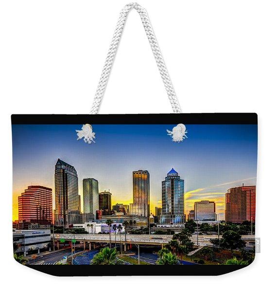 Tampa Skyline Weekender Tote Bag