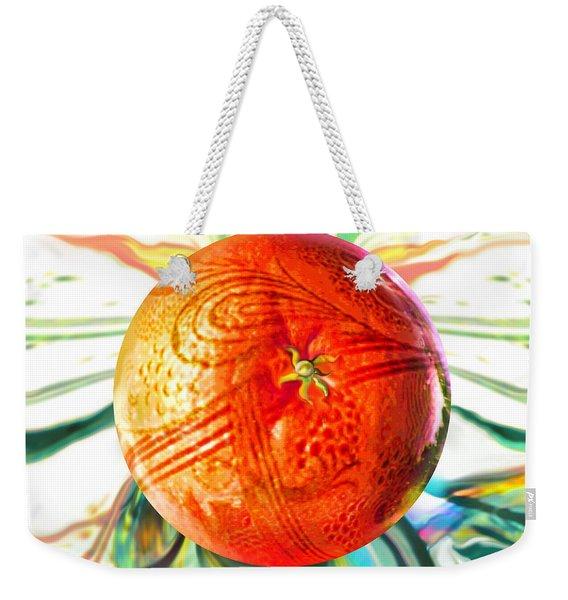 Tangerine Orb Nouveau Weekender Tote Bag