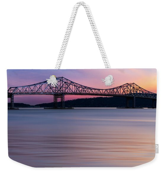 Tappan Zee Bridge Sunset Weekender Tote Bag
