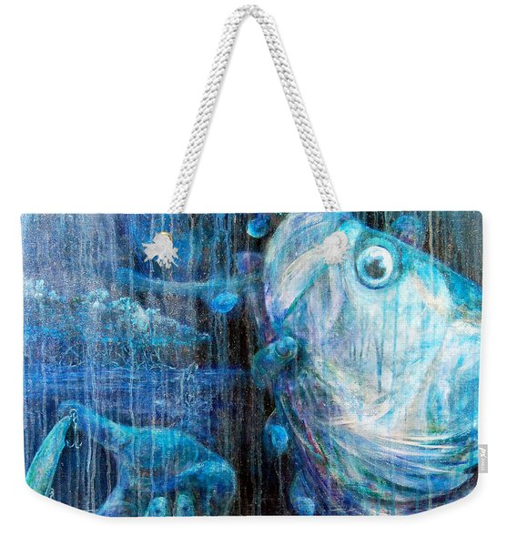 Weekender Tote Bag featuring the painting Tarpon Flats by Ashley Kujan