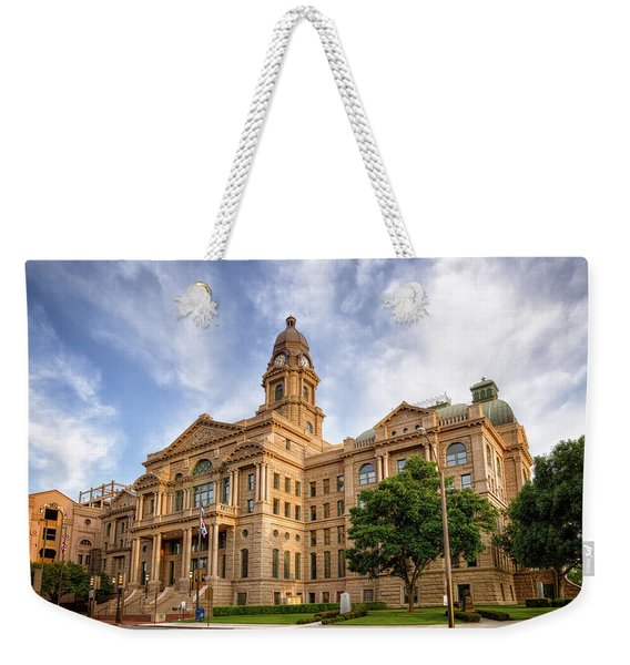 Tarrant County Courthouse II Weekender Tote Bag