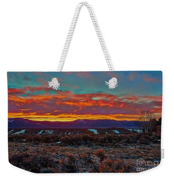 Taos Sunrise Weekender Tote Bag