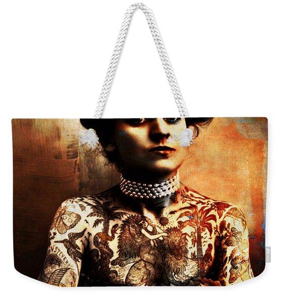 Tattoo Lady Weekender Tote Bag