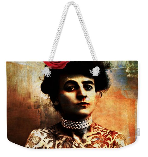 Tattoo Lady Weekender Tote Bag