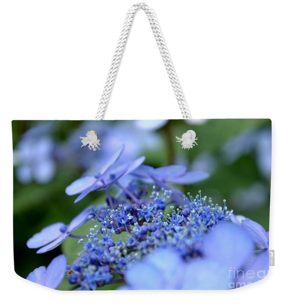 Weekender Tote Bag featuring the photograph Taube Lacecap Hydrangea by Scott Lyons