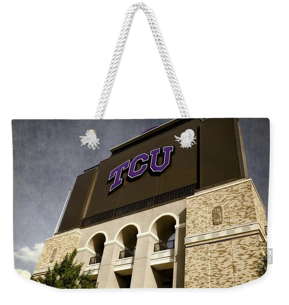 Tcu Stadium Entrance Weekender Tote Bag