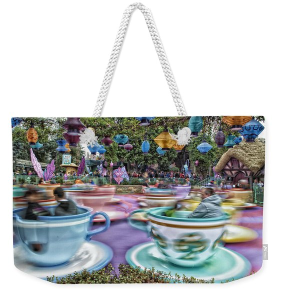 Tea Cup Ride Fantasyland Disneyland Weekender Tote Bag