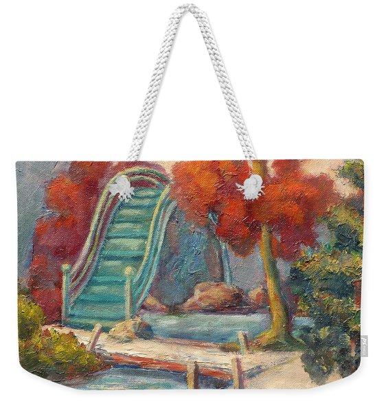 Tea Garden Bridge Weekender Tote Bag