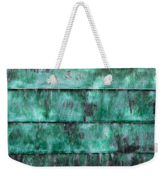 Teal Water Panels Weekender Tote Bag