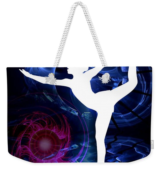 Technicolor Figure Skater On Ice Weekender Tote Bag