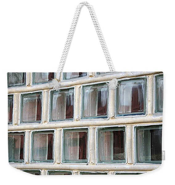 Weekender Tote Bag featuring the photograph Technocratic Windows by William Selander