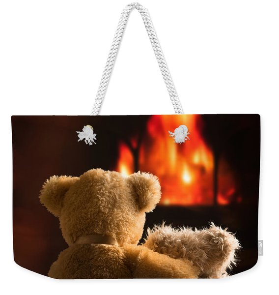 Teddies By The Fire Weekender Tote Bag