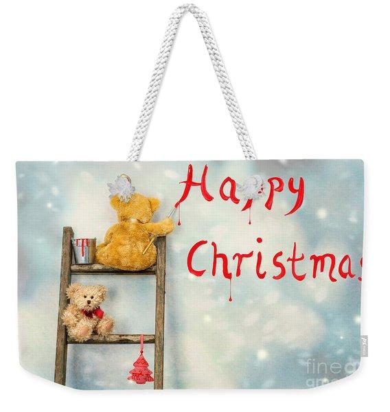 Teddy Bears At Christmas Weekender Tote Bag