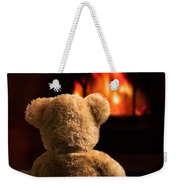 Teddy By The Fire Weekender Tote Bag