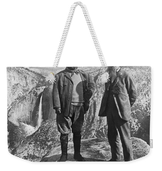 Teddy Roosevelt And John Muir Weekender Tote Bag