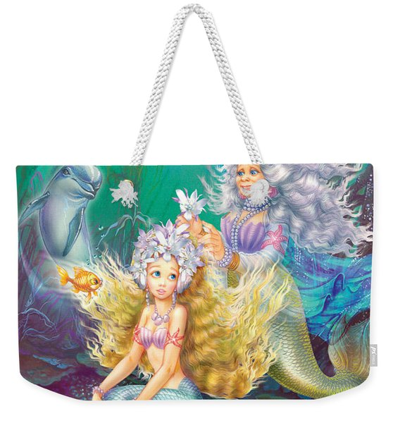 Teen Little Mermaid Weekender Tote Bag