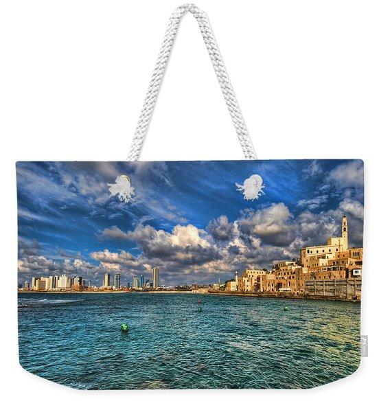 Tel Aviv Jaffa Shoreline Weekender Tote Bag