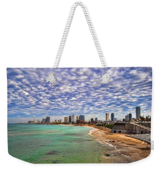 Tel Aviv Turquoise Sea At Springtime Weekender Tote Bag