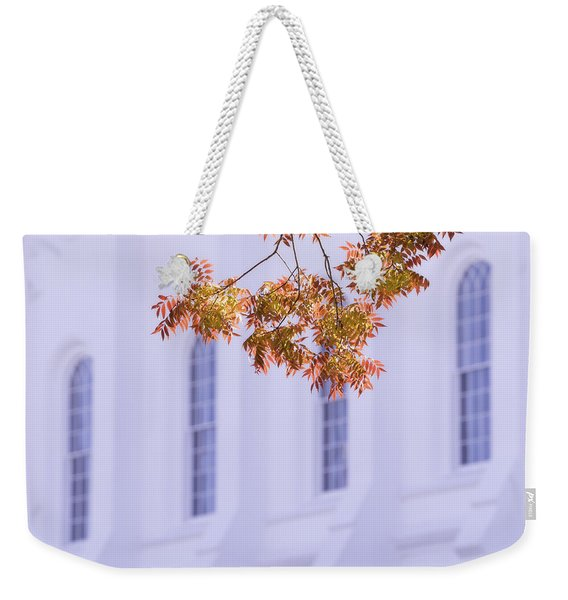 Temple Accent Weekender Tote Bag