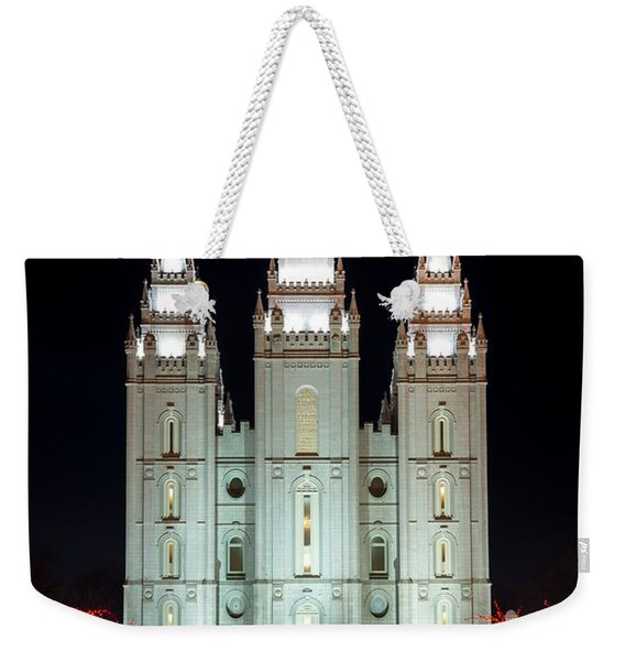 Temple Lights Weekender Tote Bag