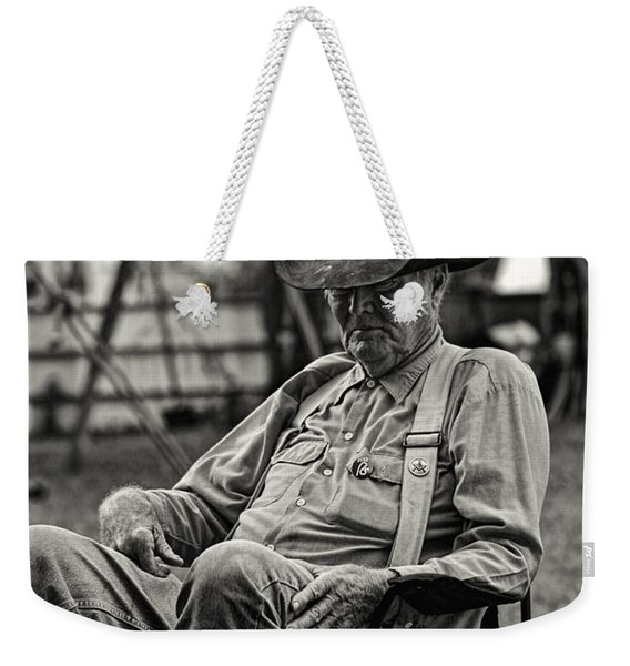 Cowboy And The Ten Gallon Hat Weekender Tote Bag