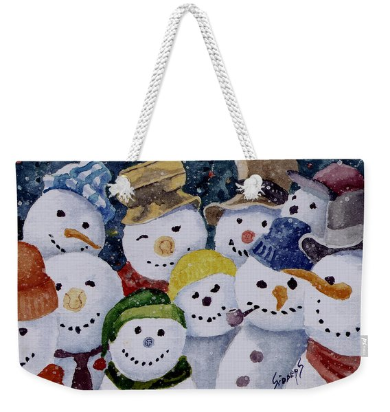 Ten Little Snowmen Weekender Tote Bag