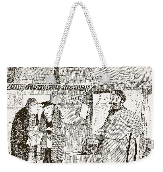 Tendency To Be Embarrassed By Foreign Weekender Tote Bag