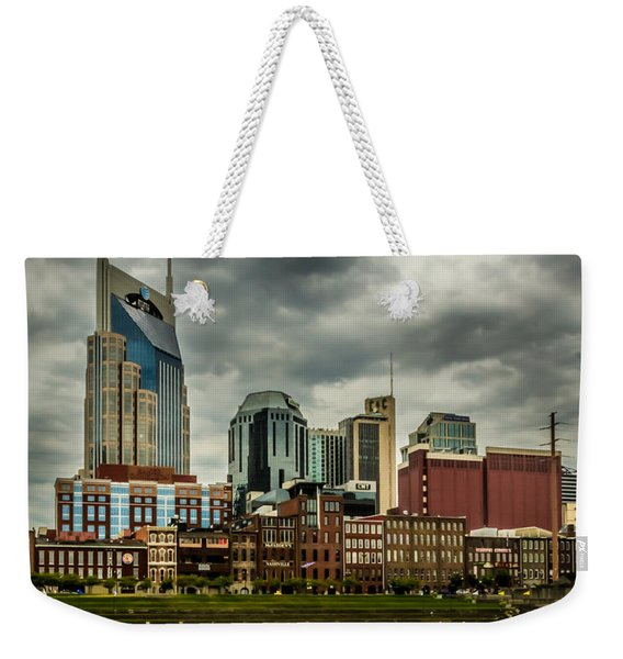 Tennessee - Nashville From Across The Cumberland River Weekender Tote Bag