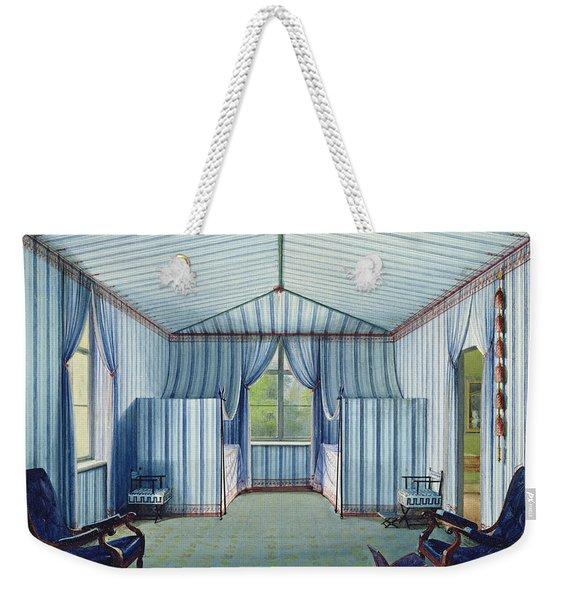 Tent Room, After 1830 Pen & Ink And Wc On Paper Weekender Tote Bag