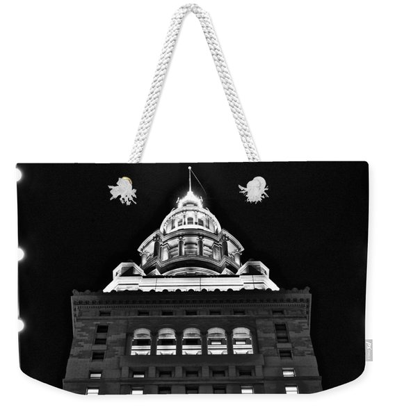 Terminal Tower Black And White Weekender Tote Bag