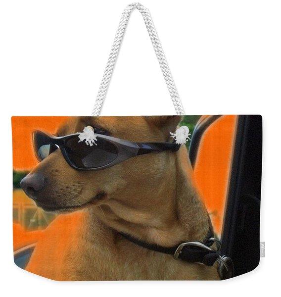 Terminally Cool Watch Dog Weekender Tote Bag